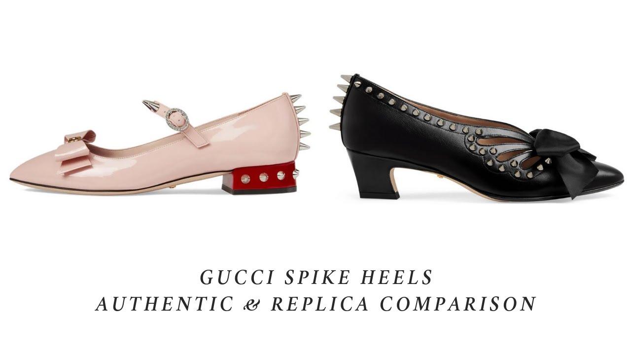 GUCCI Spike Heels Authentic \u0026 Replica