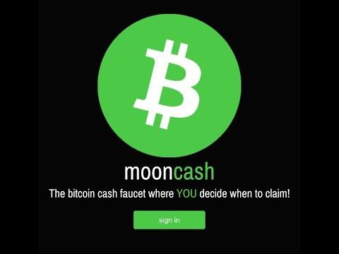 Moon Cash - Free Bitcoin Cash Faucet