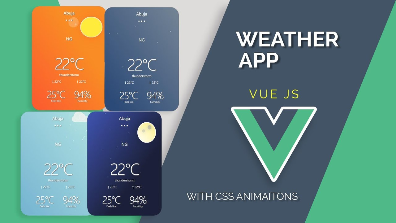 Build Weather App with Vue CLI | For Vue JS beginners