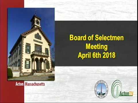 Town Manager Board of Selectmen Interviews Part 1 April 7 2018 SD