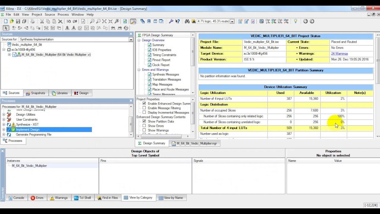 Design and Implementation of 64 Bit Multiplier using Vedic Algorithm |  m tech vlsi design projects