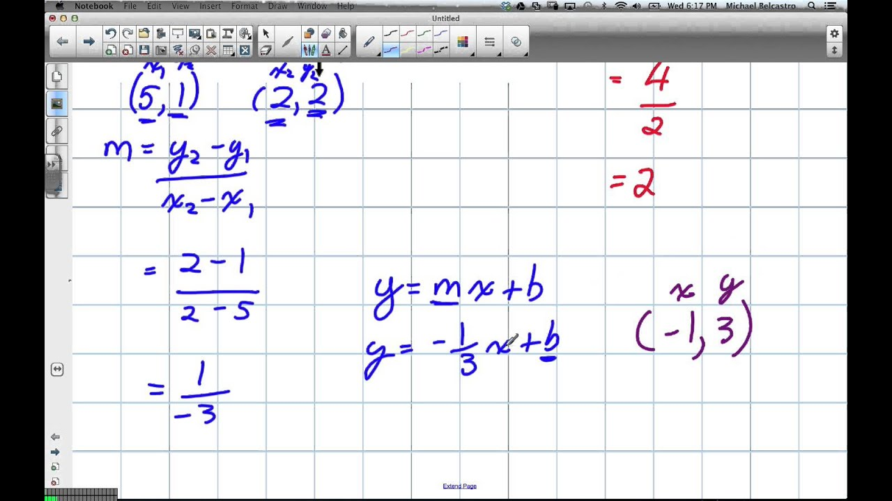 Creating Linear Equations From Graphs Grade 10 Applied Lesson 5 1 3 ...