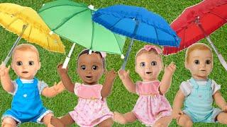 Rain Rain go Away Nursery Rhymes Kids Songs by Sam and Abby