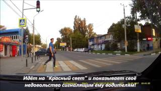 Пешеход-идиот!
