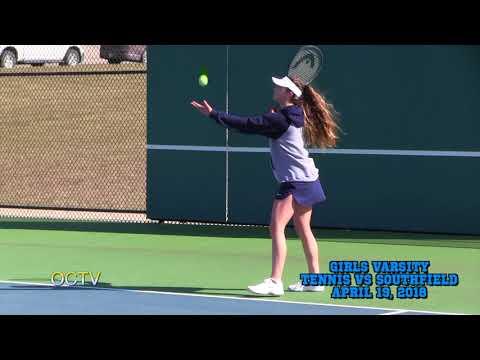 Girls Varsity Tennis vs. Southfield: 4-19-18