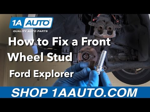 How to Replace Front Wheel Stud 06-10 Ford Explorer