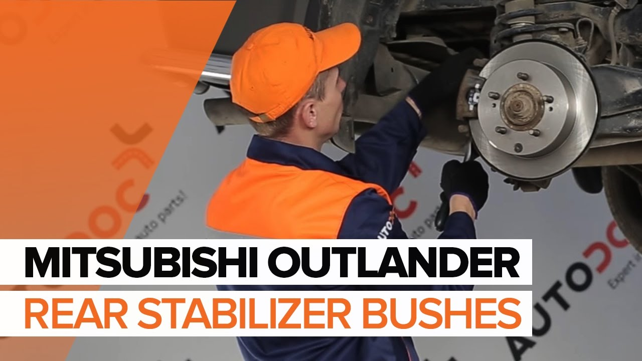 How To Replace Rear Stabilizer Bushes On Mitsubishi Outlander Transmission Bushing Diagram Tutorial Autodoc