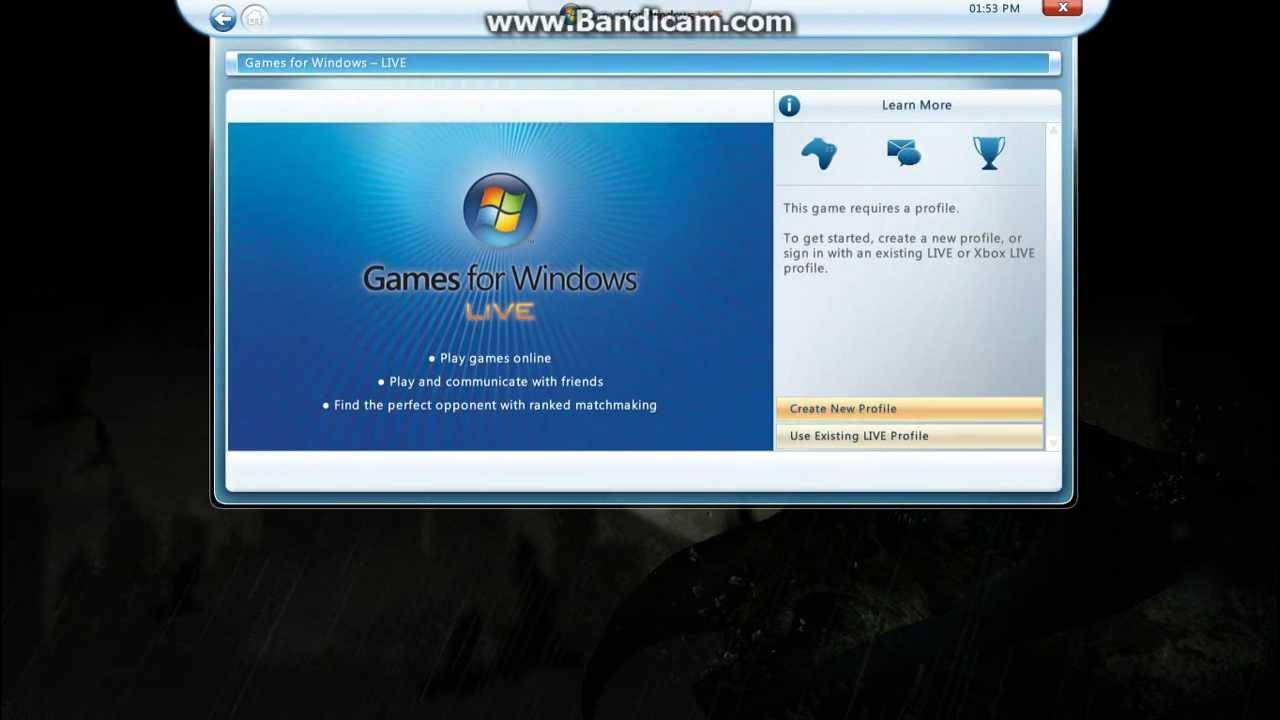Batman Arkham City Windows Live Profile Bypass And