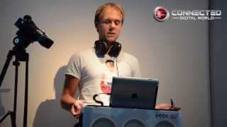 Armin van Buuren demos the Philips M1X-DJ sound system