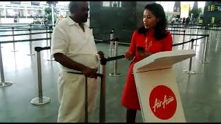 Air Asia Mobile check in units in BLR, quick, easy, simple