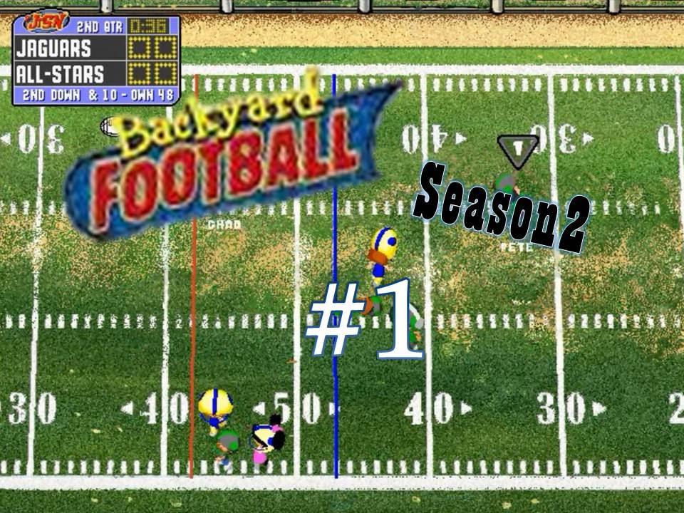 backyard football 1999 pc season 2 game 1 new season youtube