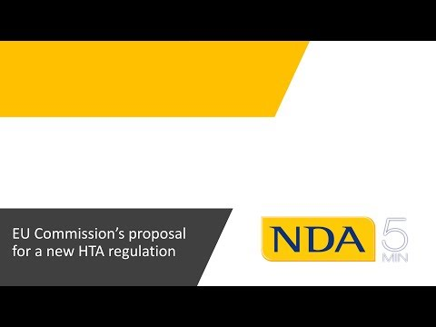 NDA's comments on the new HTA regulation proposed by the EU Commission