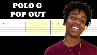 Polo G - Pop Out ft Lil Tjay (Easy Guitar Tabs Tutorial)