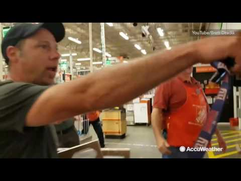 Tornado touches down over Home Depot store in New Jersey