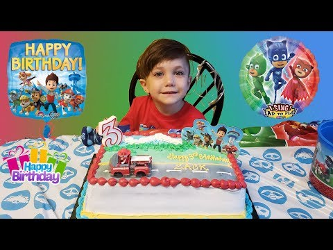 Zack 3rd Birthday Party Indoor Playground Play Area for Kids Fun! Family Vlog Video