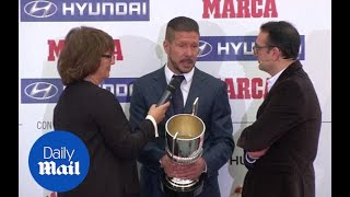 Diego Simeone wins best coach at Marca Football Awards - Daily Mail