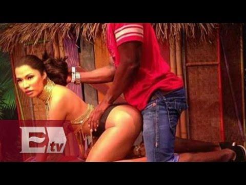 Nicki Minaj: Fans se toman fotos obscenas con figura de cera  / Entre mujeres