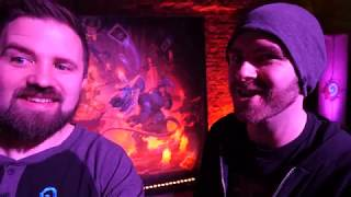 HOW TO MAKE A HEARTHSTONE CARD - Kobolds and Catacombs with Devs and Sjin