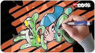 Graffiti zeichnen für Anfänger - SHOW Bubble Style mit Charakter
