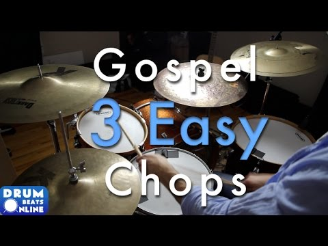 3 Easy & Amazing Gospel Chops - Drum Lesson | Drum Beats Online