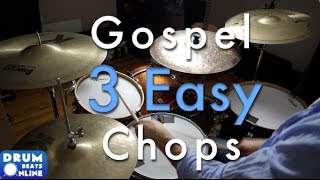 3 Easy Amp Amazing Gospel Chops Drum Lesson Drum Beats Online