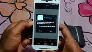 ▶ Moto G 2nd Gen   How to Connect USB Drive OTG Support    YouTube 360p