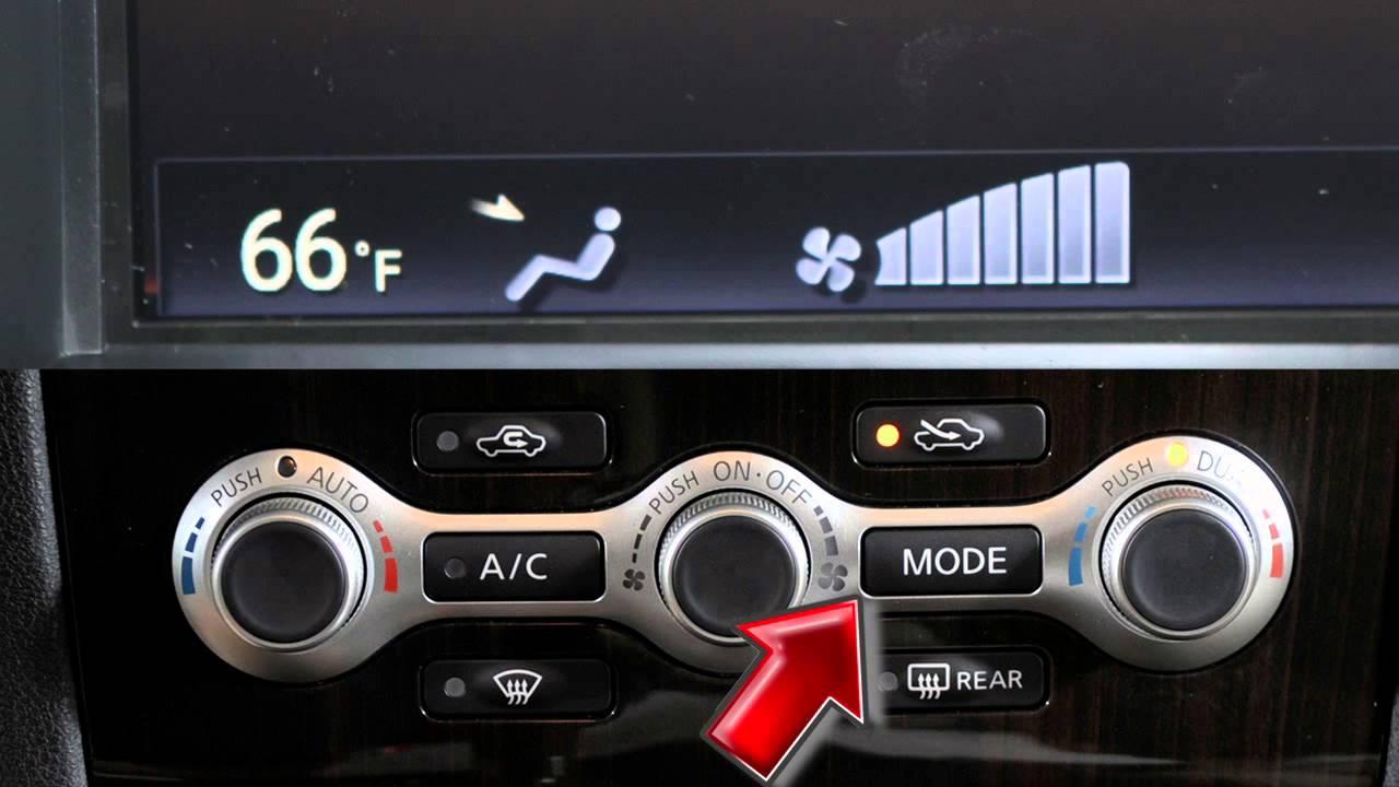 2012 Nissan Maxima Automatic Climate Controls Youtube Auto Fan For Temperature Control