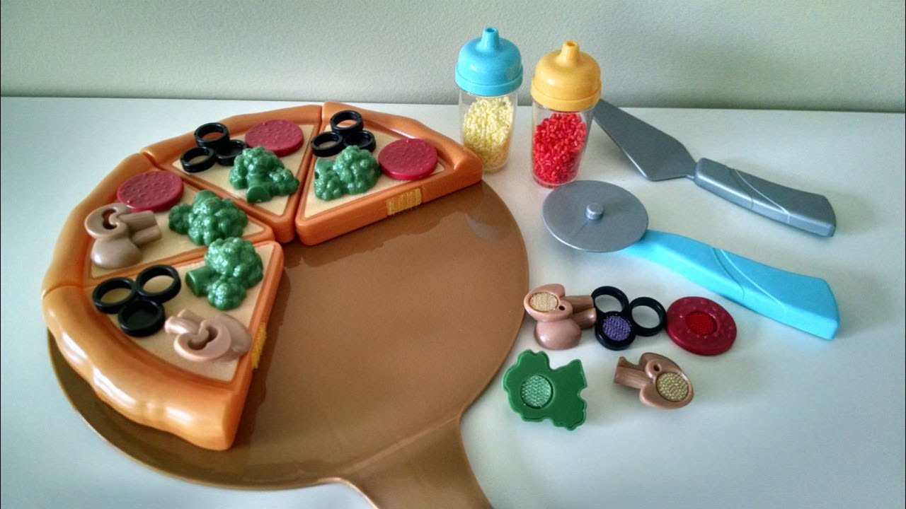 Just Like Home Toy Food : Toy cutting velcro pizza just like home przecinanie