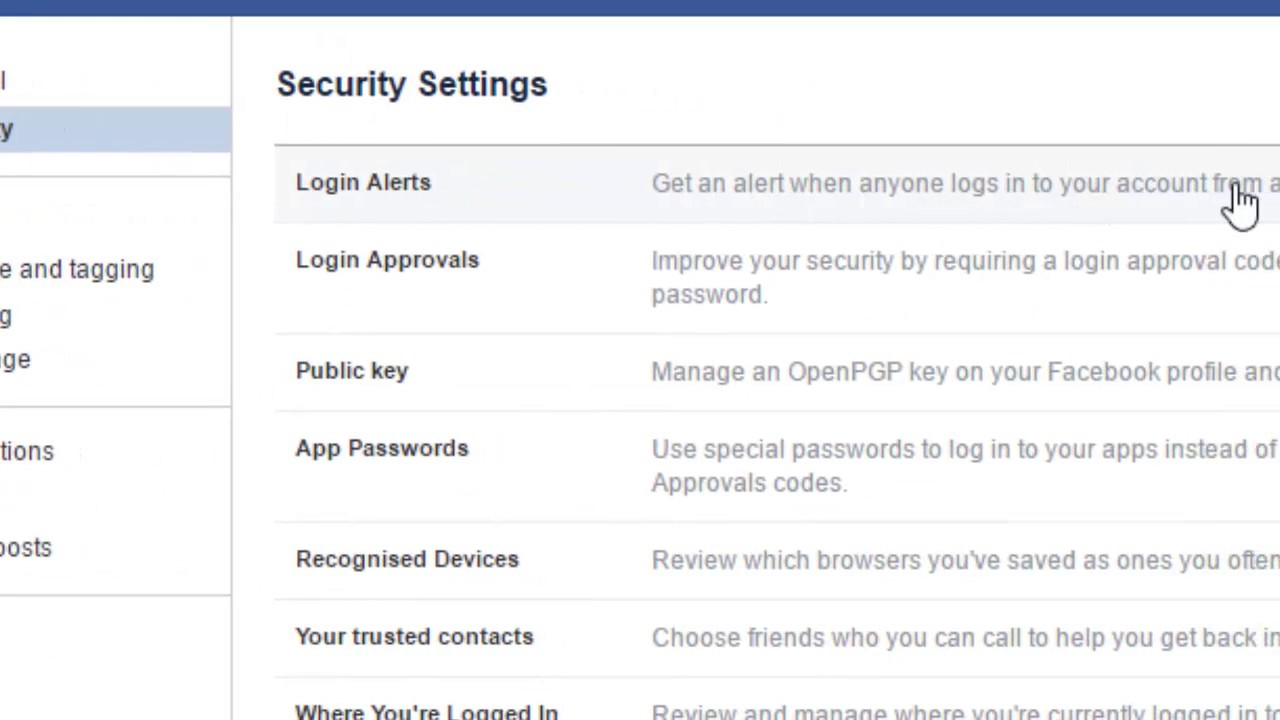 How To Enable Login Alert Notifications In Facebook