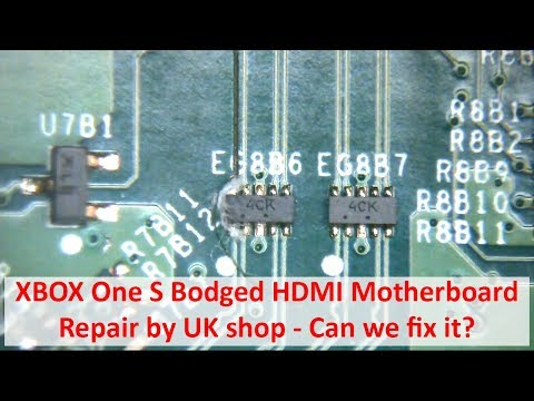 XBOX One S: Poor HDMI Motherboard Repair Rescue - YouTube Xbox Slim Motherboard Fuse on