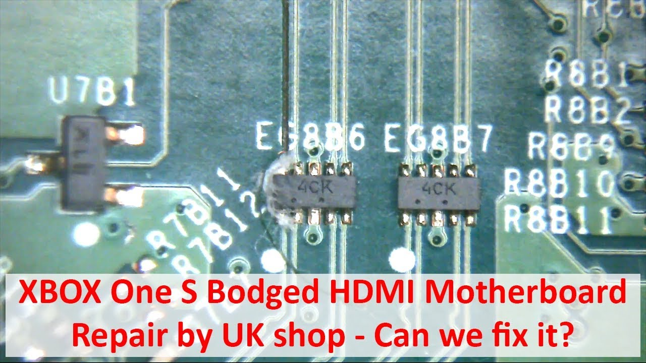 hight resolution of xbox one s poor hdmi motherboard repair rescue