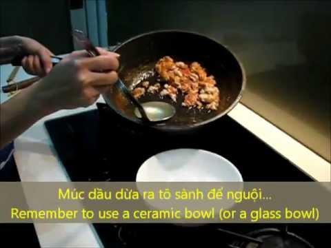 Cách làm dầu dừa tại nhà - How to make virgin coconut oil at home