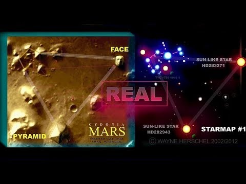 MARS FACE & MARS PYRAMID - PLEIADES MARS STAR MAP - HIDDEN RECORDS
