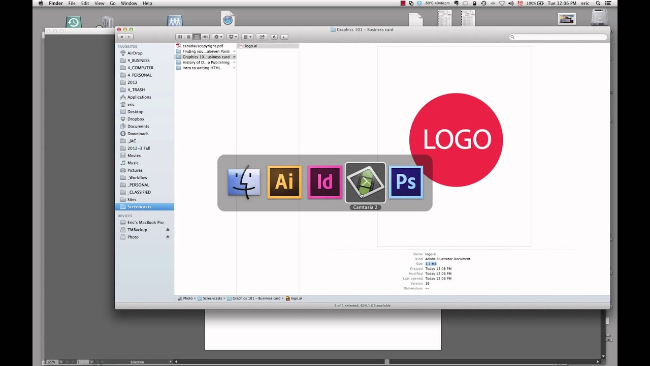 How to design a business card using Adobe InDesign CS6