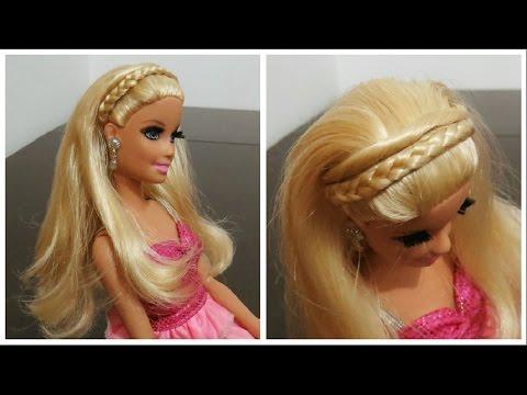 Tiara de Trança e Torcidinho - Penteado para Barbie DIY