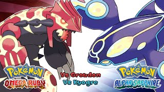 Repeat youtube video Pokemon Omega Ruby/Alpha Sapphire - Battle! Primal Kyogre/Groudon Music (HQ)
