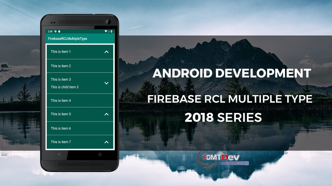 Android Studio Tutorial - Firebase Recycler View Item Multiple Type