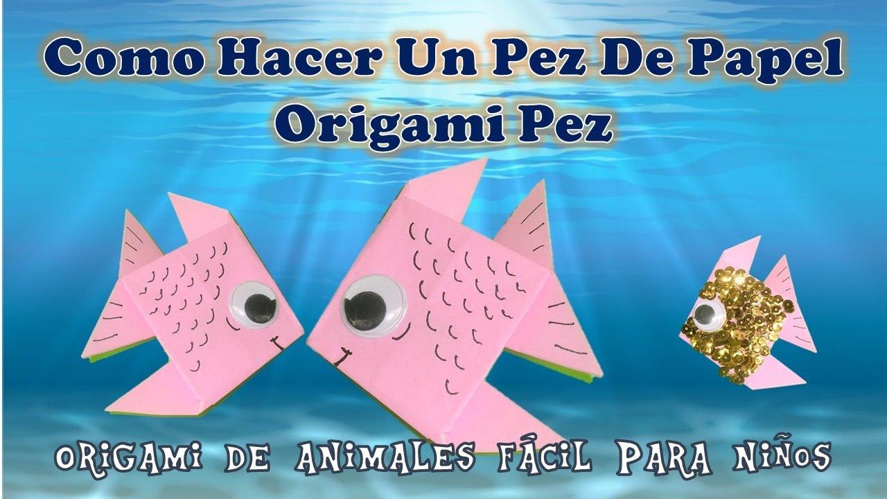 Como hacer un pez de papel origami pez origami de animales for Cocinar pescado para ninos