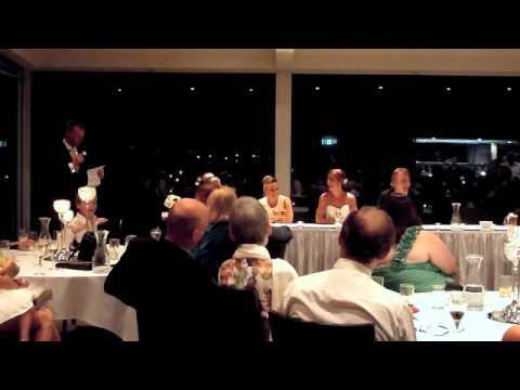 racecaller wedding speech