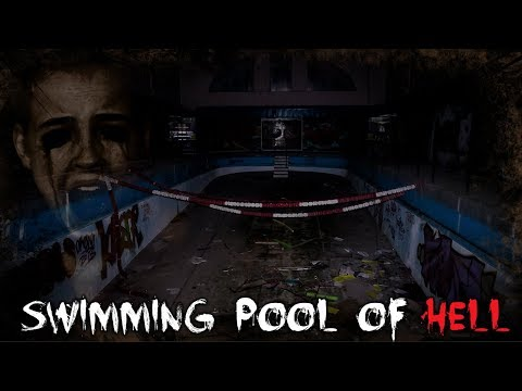 *HAUNTED* SCARY POST APOCALYPTIC ABANDONED SWIMMING POOL EXPLORATION