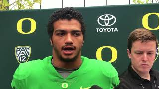 Oregon linebacker Troy Dye explains what he has learned from DC Jim Leavitt