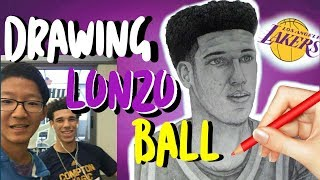 Drawing Lonzo Ball from LA Lakers