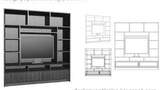 Planos: Construcción Centro de Entreternimiento Mueble para TV