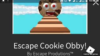 Roblox Escape cookie obby