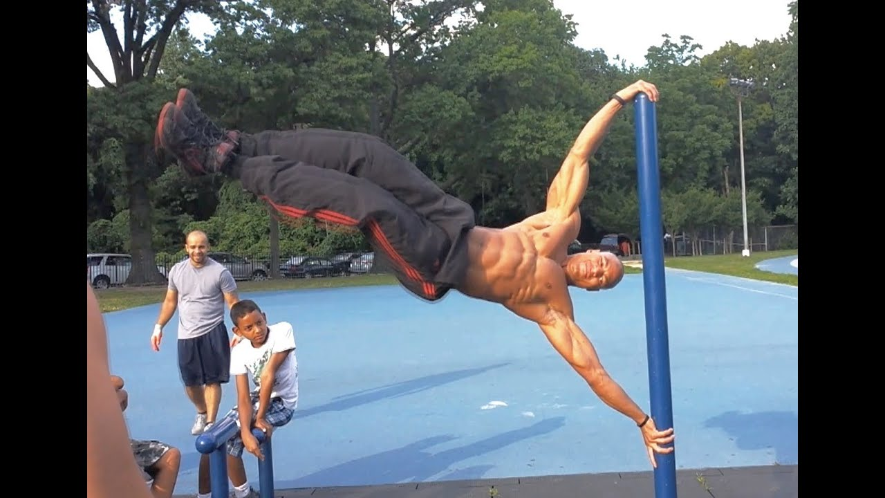 "how to do the ""human flag"" tutorial (big brandon carter) - youtube, Muscles"