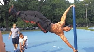 "How To Do The ""Human Flag"" Tutorial (Big Brandon Carter)"