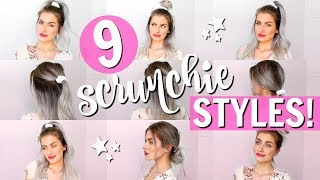 9 SCRUNCHIE HAIRSTYLES! HEATLESS BACK TO SCHOOL!