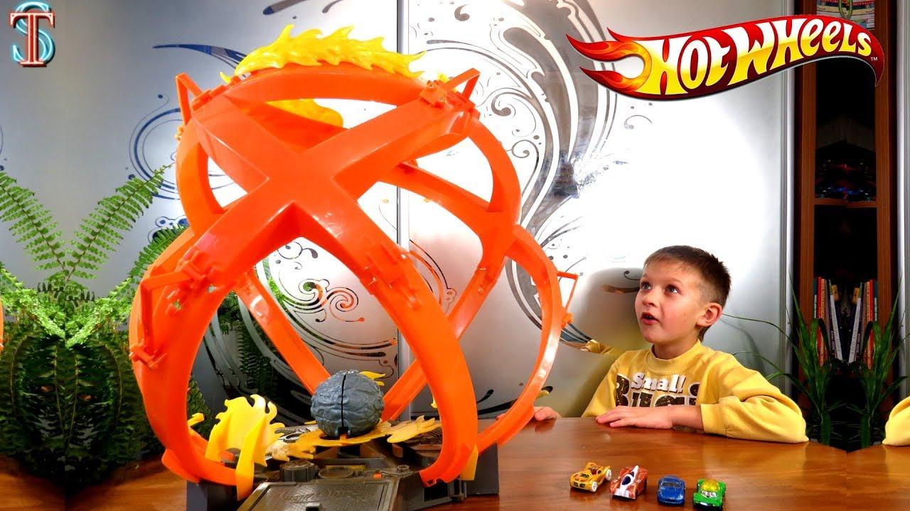 Хот Вилс Огромный трек Огненный шар Hot Wheels track Fireball