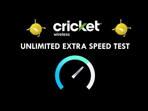 CRICKET WIRELESS UNLIMITED EXTRA SPEED TEST