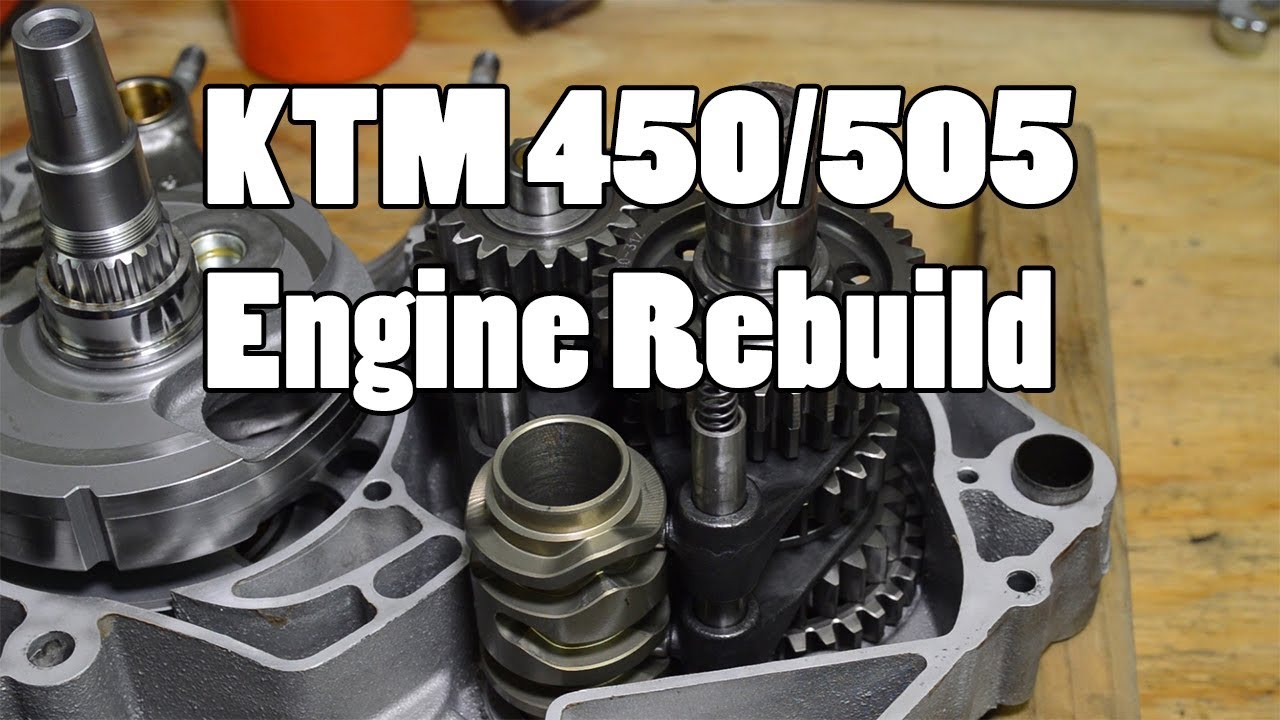 small resolution of how to ktm 450 505 sx f top bottom engine rebuild 2007 2012